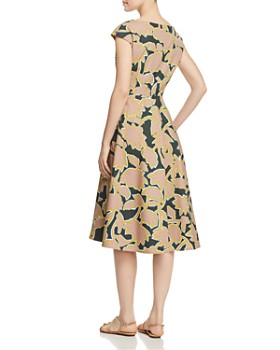 Weekend Max Mara - Saloon Printed Cotton Midi Dress