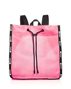 LeSportsac - Nadine Embossed Stripe Drawstring Backpack