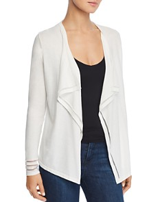 Avec - Mesh-Trim Open Cardigan
