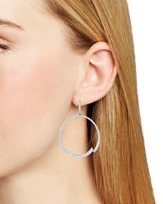 Nadri - Ripple Frontal Hoop Earrings
