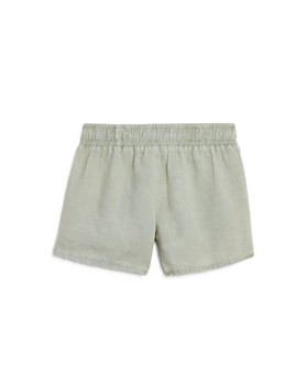 Bella Dahl - Girls' Side-Button Linen Shorts - Big Kid
