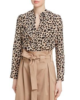 Marella - Regnant Leopard-Print Silk Blouse