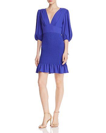 Amanda Uprichard - Gala Smocked-Skirt Mini Dress