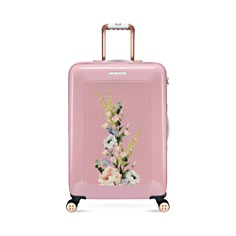 Ted Baker - Elegant Pink 4-Wheel Trolley Case, Medium