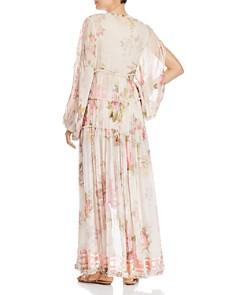 Rococo Sand - High-Low Slit-Sleeve Maxi Dress