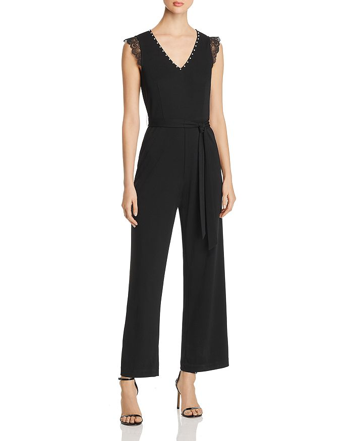 KARL LAGERFELD Paris - Lace-Trim Jumpsuit