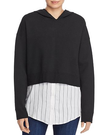 Alice and Olivia - Dorma Layered-Look Hooded Sweatshirt