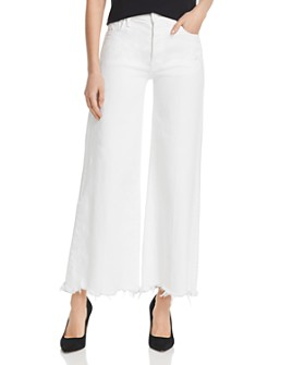 MOTHER - The Tomcat Roller Chewed-Hem Wide-Leg Jeans in Almost Innocent