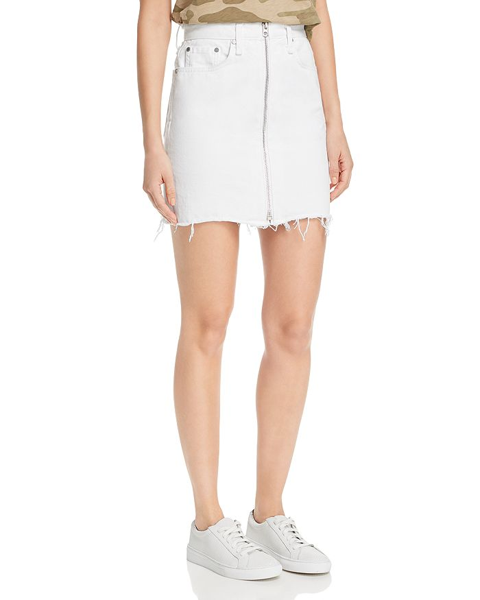 rag & bone - Anna Zip-Front Denim Skirt