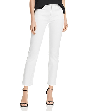 Mother Jeans DAZZLER HIGH-RISE ANKLE STRAIGHT-LEG JEANS IN GLASS SLIPPER