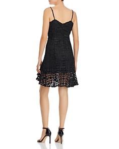 Olivaceous - Flounced Lace Dress