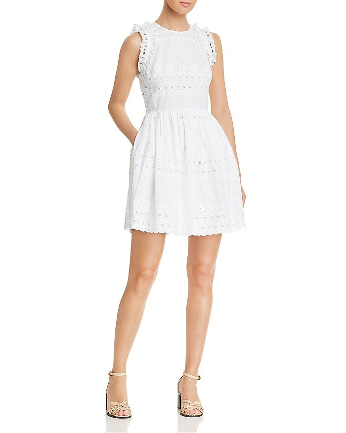 kate spade new york - Eyelet Lace Mini Dress