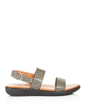 FitFlop - Women's Barra Slingback Snake-Embossed Sandals