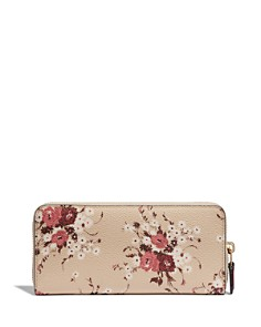 COACH - Slim Floral Bundle Canvas Zip Wallet