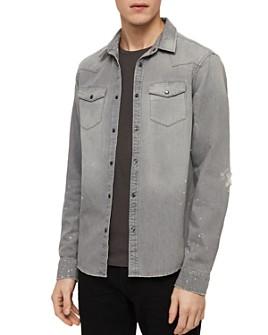 ALLSAINTS - Gino Distressed Denim Shirt