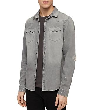 Allsaints Gino Distressed Denim Shirt