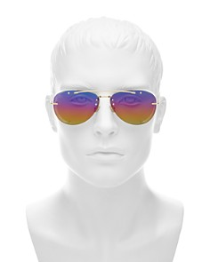 Dior - Men's Chroma Mirrored Brow Bar Aviator Sunglasses, 60mm