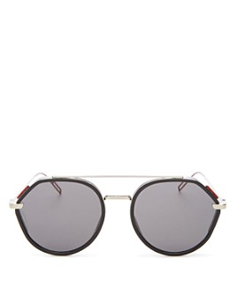 Dior - Men's Vintage Mirrored Brow Bar Round Sunglasses, 52mm