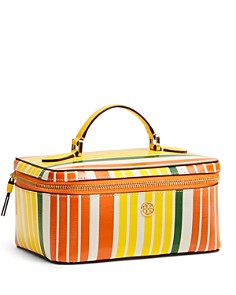 Tory Burch - Robinson Large Striped Cosmetic Case