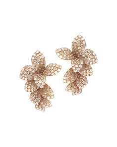 Pasquale Bruni - 18K Rose Gold Stelle in Fiore White & Champagne Diamond Drop Earrings