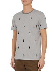 Ted Baker - Vipa Parrot-Embroidered Crewneck Tee