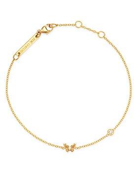 Zoë Chicco - 14K Yellow Gold Itty Bitty Butterfly & Diamond Bracelet