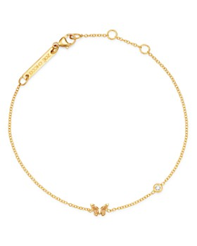 Zoë Chicco - 14K Yellow Gold Itty Bitty Butterfly & Diamond Bracelet
