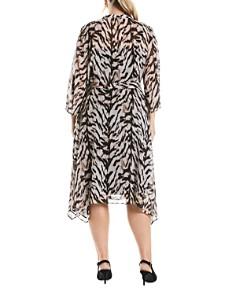 Estelle Plus - Animal-Print Button-Front Dress