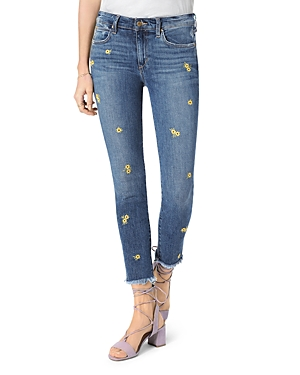 Joe's Jeans Jeans THE ICON DAISY-DETAIL CROP SKINNY JEANS IN BROOKLYNN