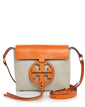 fe44904c135 Tory Burch - Miller Canvas   Leather Crossbody ...
