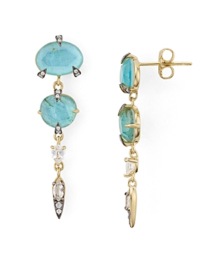Nadri Agean Linear Drop Earrings in 18K Gold-Plated Sterling Silver