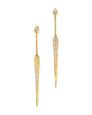 Madhuri Parson 14K Yellow Gold Diamond Essentials Dagger Drop Earrings