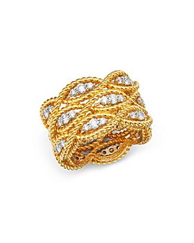 Roberto Coin - 18K Yellow & White Gold Barocco Collection Diamond Ring