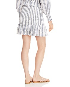 AQUA - Striped Smocked Skirt - 100% Exclusive