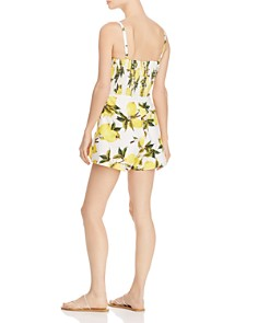 AQUA - Tie-Front Lemon Print Romper - 100% Exclusive