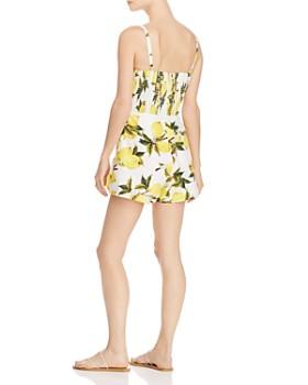 AQUA - Tie-Front Lemon Print Romper - 100% Exclusive