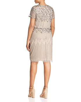 9ee7896170d ... Adrianna Papell Plus - Short-Sleeve Beaded Dress