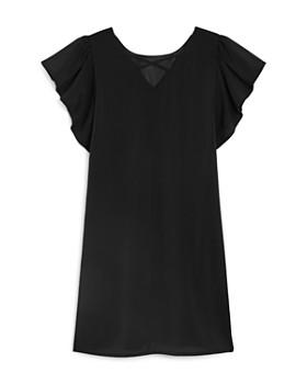 Laundry by Shelli Segal - Girls' Flutter-Sleeve Shift Dress - Big Kid