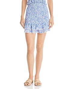 Lost and Wander - Pick Me Smocked Ruffled Mini Skirt
