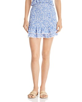 Lost and Wander - Pick Me Smocked Ruffled Mini Skirt