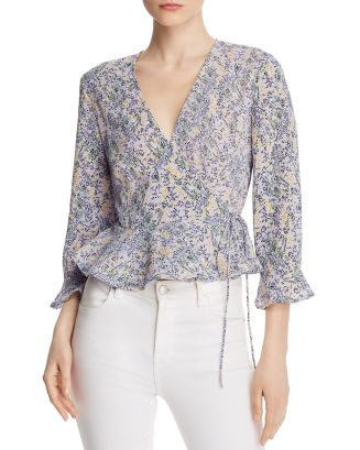 Tour Floral Wrap Top by The Fifth Label