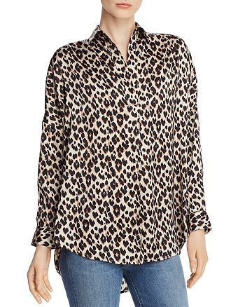 FRENCH CONNECTION - Rhodes Leopard-Print Top