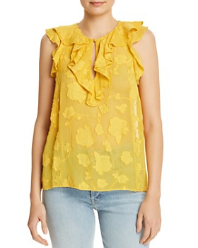 f90eb9bd52d86 Womens Yellow Tops - Bloomingdale s