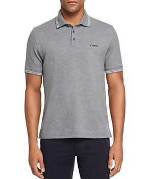 Z Zegna - Short-Sleeve Regular Fit Polo Shirt - 100% Exclusive