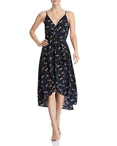 AQUA - Floral-Print High/Low Dress - 100% Exclusive