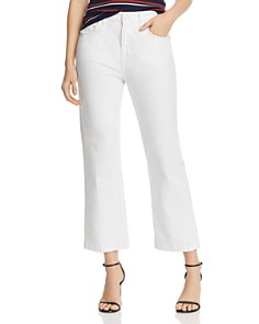 Current/Elliott - The Vanessa High-Rise Cropped Straight-Leg Jeans in White Out