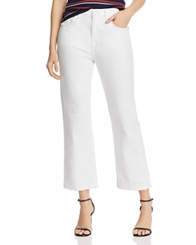 3b4019539 Current/Elliott - The Vanessa High-Rise Cropped Straight-Leg Jeans in White  ...