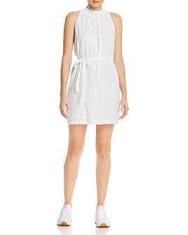 Bella Dahl - Smocked-Collar Belted Mini Dress