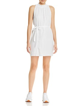 Bella Dahl - Smocked-Collar Belted Mini Dress