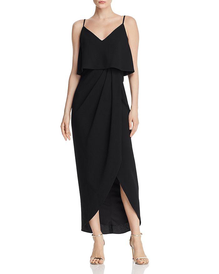 AQUA - Tiered Crepe Dress - 100% Exclusive
